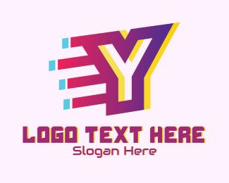 Static - Speedy Letter Y Motion  logo design