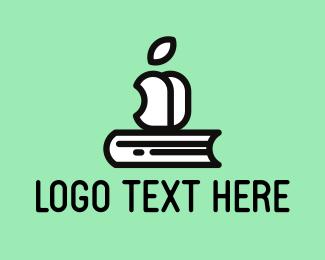 Educate - Book & Apple logo design