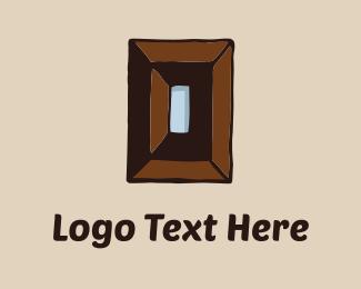 Wood Rectangle Logo