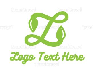 Letter L - Leafy L Script logo design