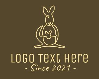 Mother - Australian Kangaroo Monoline logo design