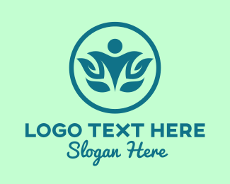 Yoga - Natural Yoga Pose logo design