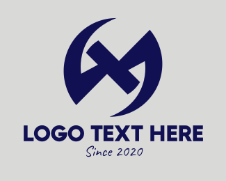 Business Solutions - Generic Dark Blue Symbol logo design
