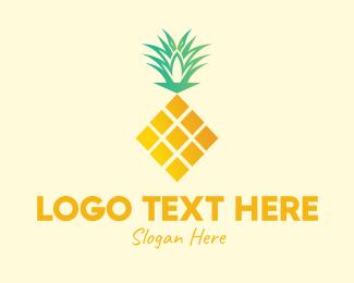Pineapple - Geometric Pineapple  logo design