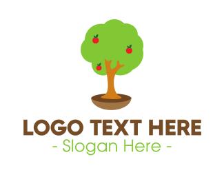 Trunk - Apple Tree logo design