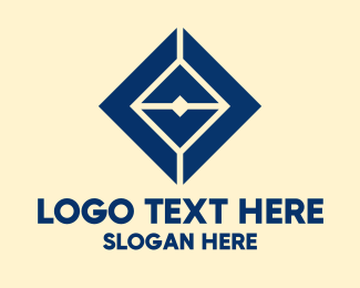 Geometric Blue Diamond Logo