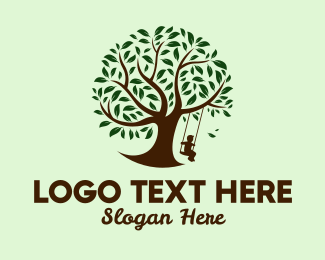 Backyard - Tree Swing  logo design