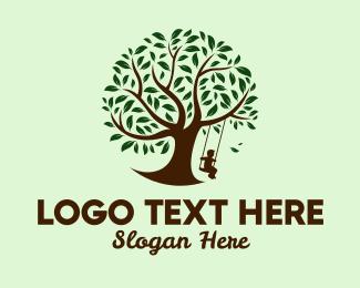 Yard - Tree Swing  logo design