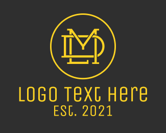 Wa - Golden LMD Monogram logo design