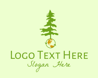 Reuse - Earth & Tree logo design