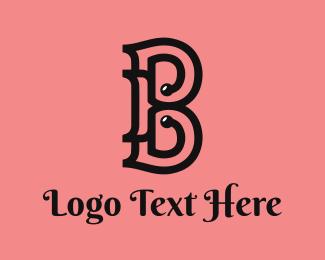 Beauty Brand - Classic B Outline logo design