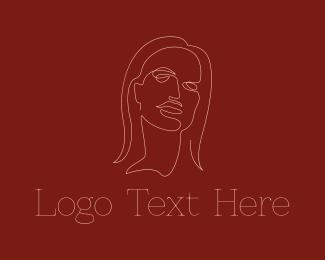 Dainty Woman Line Art Logo