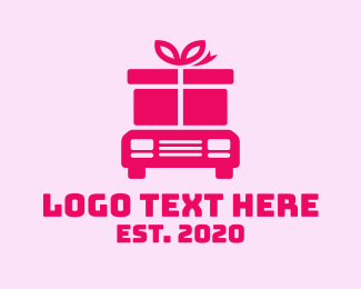 Package - Delivery Gift Truck logo design