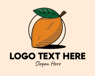 Juice Shop - Rustic Mango Fruit logo design