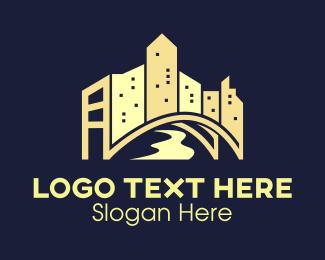 Capital - Bridge City logo design