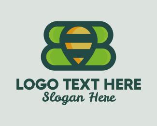 Navigate - Organic Honeybee  logo design