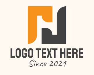 Negative Space - Negative Space Letter H logo design