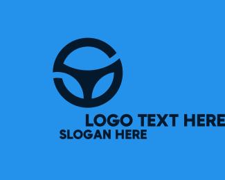 Car Maintenance - Letter S Steering Wheel logo design