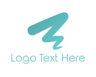 Brushstroke - Blue Brushstroke  logo design