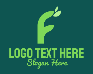 Nature Conservation - Green Natural Letter F logo design