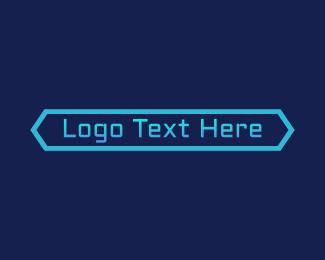Information Technology - Gradient Tech Wordmark logo design