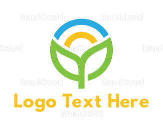 Dietician - Colorful Sprout Outline logo design
