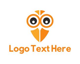 Squid - Owl Eyes logo design