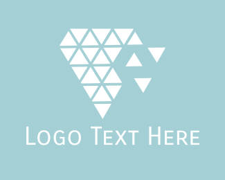 Rhinestone - Diamond Triangles logo design