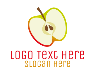 Vegan Food - Apple Slice logo design