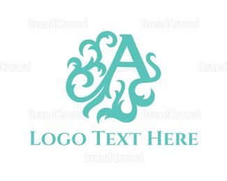 Act - Mint Letter A logo design