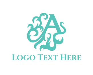 Branch - Mint Letter A logo design