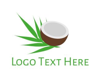 Coconut - Coconut Palm logo design