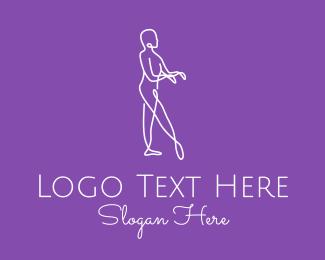 Dancing - Minimalist Dance Performer logo design