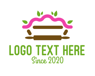 Oven - Leaf Pie Rolling Pin Bakery logo design