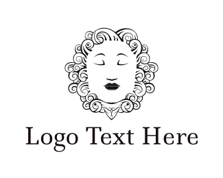 Alone - Woman Face logo design