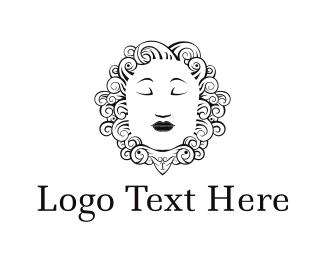 Queen - Woman Face logo design