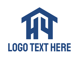 Drywall - Blue Home logo design