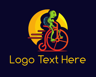 Moon - Alien Bike logo design