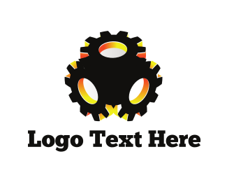 Cog - Black Gear logo design