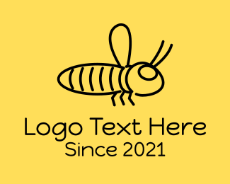 Insect - Minimalist Bee Insect logo design