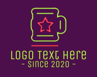 Neon Lights - Neon Lights Star Mug logo design