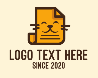 Paper - Orange Cat Paper logo design
