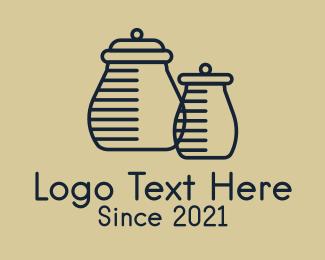 Jar - Minimalist Homeware Jars logo design