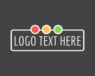 Text Logo - Traffic Lights Wordmark logo design