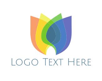 Tulip - Rainbow Tulip logo design