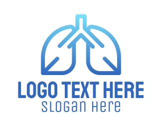 Lungs - Simple Healthy Lungs logo design