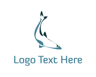 Diving - Abstract Fish logo design
