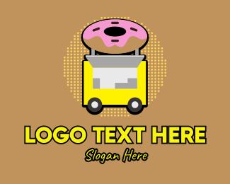 Hot Dog Sandwich - Retro Donut Stall logo design