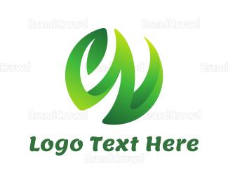Swoosh - W Vine Leaf logo design