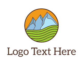 Agriculture - Mountain Farm logo design